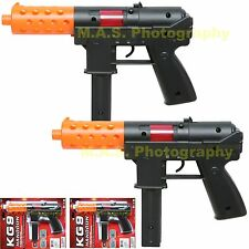 LOT OF 2 - TEC-9 KG-9 CAR-15 HANDGUN TOY ASSAULT RIFLE MACHINE GUN MILITARY NEW
