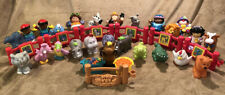Fisher-Price Little People 26 Figure Lot People Animals Fence Zoo