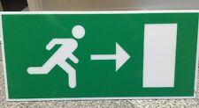 DEXTRA Legend Arrow Down Sign For Emergency Exit Box Light Green 30cm x 10.4cm