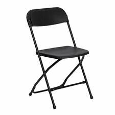 Flash Furniture Hercules Plastic Folding Chair in Black