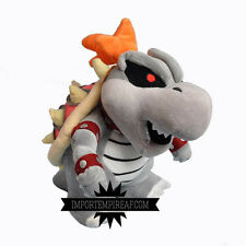 SUPER MARIO BROS. SKELOBOWSER PELUCHE DRY BOWSER BONES pupazzo plush new 3d land