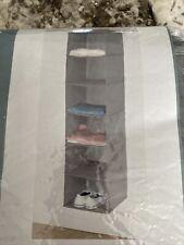 Long Fabric Over Closet Hanging Organizer - 6 Shelves -