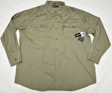 Rocawear Button Down Shirt Men 3XB 3X 3XL Pocket Roll-Up Woven Olive Urban P052