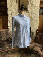 J Crew Blue White Stripe Shirt Button Front Long Sleeve 4