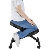 Adjustable Ergonomic Kneeling Chair Posture Chair Stool for Home Office Black