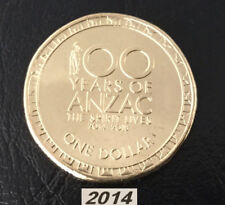 2014 100 Years of Anzac $1 coin from RAM Roll Brilliant Uncirculated - Scarce