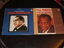 PAUL ROBESON  2 lp lot     black folk spirtuals   legend  sealed    g3150