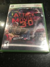 Attack of the Movies 3-D (Microsoft Xbox 360, Brand New Factory Sealed