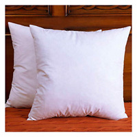 DOWNIGHT Set of 2, Cotton Fabric Throw Pillow Inserts, Down and Feather Pillow
