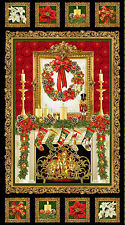 """Celebrating Christmas By The Fireplace Panel by Timeless Treasure-23"""" x 44"""""""