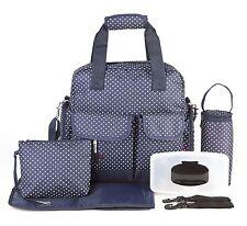 Allis Fashion PVC Baby Changing Mummy Diaper Bag - Navy