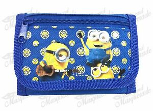 Minions Stuart Kevin & Bob Teen Boys Tri-Fold Wallet - Royal Blue