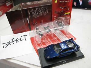 Kyosho - Ferrari MiniCar 7 - F40 blue - defect - Scale 1/64 - Mini Car - A9