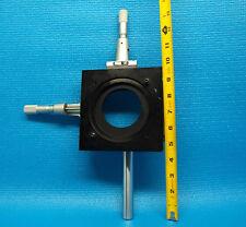 GAERTNER X-Y STAGE OPTIC HOLDER with STARRETT MICROMETER LASER BREADBOARD THOR