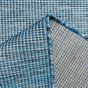 Extra Large Outdoor Rugs Navy Blue Plain Modern Washable Garden Patio Mats Cheap