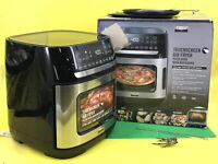 Bella Pro Series - 4-Slice Convection Toaster Oven + Air Fryer Stainless Steel