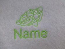 moto brodé sur serviettes,capuche serviette,Peignoir de bain avec nom