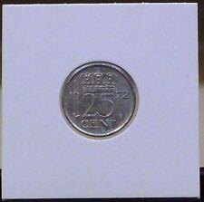 JULIANA KONINGIN DER NEDERLANDEN 1972 25 CENT COIN
