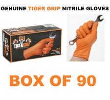 90 EXTRA LARGE Genuine Tiger Grip Orange Nitrile Gloves