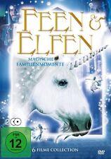 6 Fantasy Film FEEN & ELFI BOX Signor il IL TROLL KING Merlin DVD Collezione