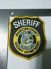 DD Police patch patches Sheriff Waukesha county Wisconsin