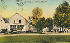 CENTER OF PLYMOUTH, VERMONT, COOLIDGE HOME BACKGROUND. POST OFFICE ON LEFT. VT.