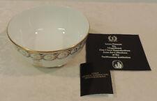 Lenox Gen Washington monogram bowl Smithsonian Collection floral gold trim w/box