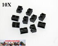 10X Lego®  32000 Technik Technic Lochbalken Steine 1x2 m. 2 Löchern Schwarz NEU