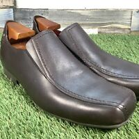 UK9 Kickers Brown Leather Loafer Slip On Shoes - Casual Dress Wedding Work EU43