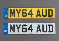 """MY AUDI"" Private/Personalised Number Plate - MY64 AUD ***NO EXTRA FEES***"