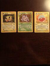 Pokemon Jungle Jolteon Holo 4/64 Nidoking 11/102 Electrode 2/64 Holo Bundle