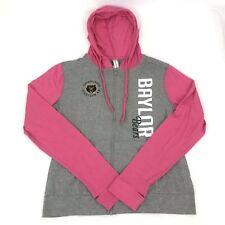 Ouray Sportswear NCAA Baylor Bears Hoodie Women's Gray Pink Full Zip Size Small