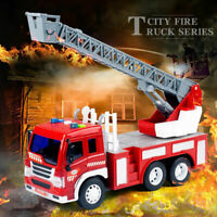 1/16 Fire Trucks Car Toys Fire Engine with Sound & Light Friction power for Kids