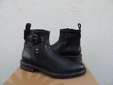UGG COLLECTION LUCIANO BLACK LEATHER CHELSEA ANKLE BOOTS, MEN US 9/ EUR 42 ~NEW