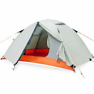 2 Person Double Layer Camping Tent Waterproof Outdoor Ultra Light 2 Door Shelter