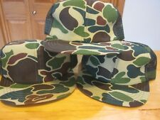 3 Vintage Youth Camo Cap Hunting Hat NWT Mesh, snap back.  USA made. Excellent