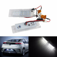 2x LED License Number Plate Light Vauxhall For Opel Astra H J Vectra C Zafira B