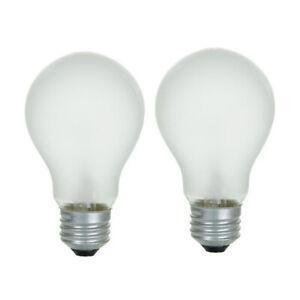 2PK - Sunlite 100w 120v A19 Left Hand Thread Medium Base Frost Light Bulb