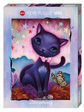 NEW! Heye Dreaming Black Kitty 1000 piece fantasy jigsaw puzzle 29687