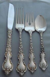 Du Barry By International Sterling Silver Olive Spoon Pierced Long 7 18 Custom