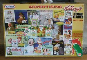 JIGSAW by FALCON/JUMBO * KELLOGGS CORN FLAKES ADVERTISING * VINTAGE 1000 PIECES