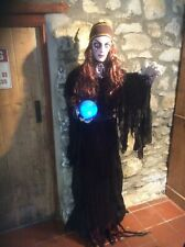 Scary Life size Fortune Teller Witch Haunted House Prop Halloween Decoration