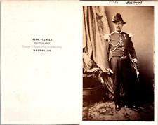 Plumier, Bruxelles, Un homme en uniforme militaire, général à identifier Vintage