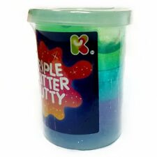 Triple Glitter Putty and Rainbow Slime Lab Goo 3 Tubs Childrens Toy Party Bag