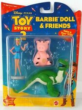 NEW! DISNEY TOY STORY 2 BARBIE DOLL & FRIENDS, REX, HAMM & BARBIE ACTION FIGURES