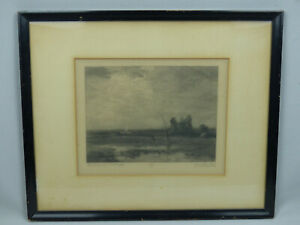 Original Timothy Cole Etching Engraving Print Lowlands by J. F. Murphy ca 1918