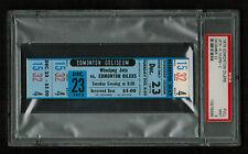 PSA 9 WINNIPEG JETS at the EDMONTON OILERS 1975 Unused WHA Ticket