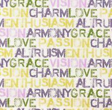 Jugendtapete Schriftzug weiß grün lila gelb P+S Be You 05516-50 (0,83€/1qm)
