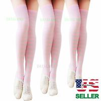 Women Thigh High Socks Over Knee Leg Warmer Girls Tall Plus Size Halloween Party