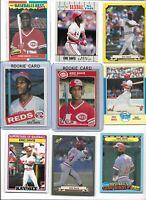 Eric Davis Reds Lot (30) Different w/ 1985 Fleer Rookie #533 & Topps #627 Mint